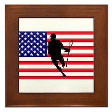 Lacrosse Flag IRock America Framed Tile