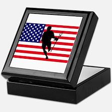 Lacrosse Flag IRock America Keepsake Box