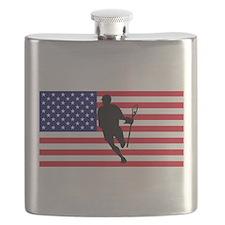 Lacrosse Flag IRock America Flask