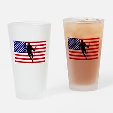 Lacrosse Flag IRock America Drinking Glass