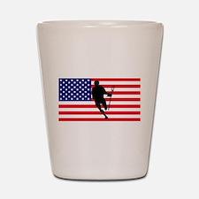 Lacrosse Flag IRock America Shot Glass