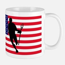 Lacrosse Flag IRock America Mugs