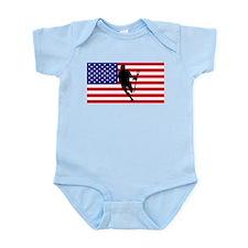 Lacrosse Flag IRock America Body Suit