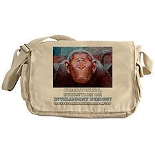Creationism, Evoltion or ID Monkey Messenger Bag