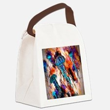 Jellyfish Jump Electric Canvas Lunch Bag