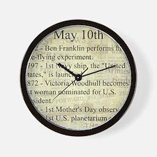 May 10th Wall Clock