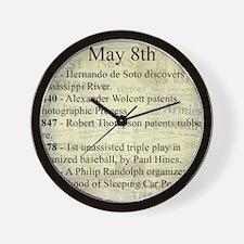 May 8th Wall Clock