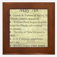 May 7th Framed Tile