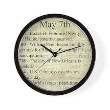May 7th Wall Clock