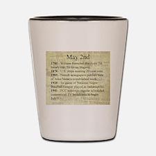May 2nd Shot Glass