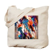 Jellyfish Electric Jump Tote Bag