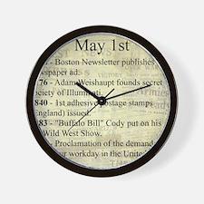 May 1st Wall Clock