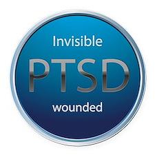 PTSD Round Car Magnet