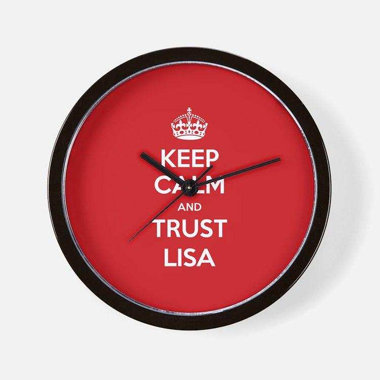 Trust Lisa Wall Clock