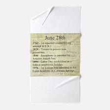 June 28th Beach Towel