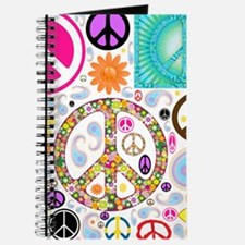 Peace Paisley Collage Journal