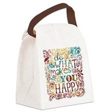 What Makes You Happy Canvas Lunch Bag