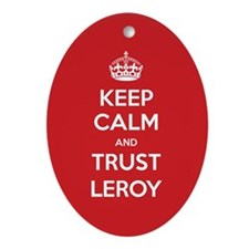 Trust Leroy Ornament (Oval)