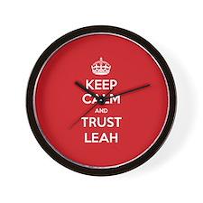 Trust Leah Wall Clock