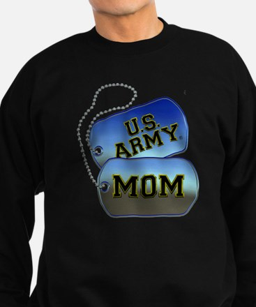 U.S. Army Mom Dog Tags Sweatshirt (dark)