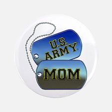 "U.S. Army Mom Dog Tags 3.5"" Button"