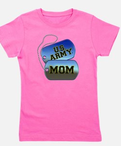 U.S. Army Mom Dog Tags Girl's Tee