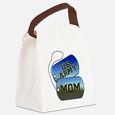 U.S. Army Mom Dog Tags Canvas Lunch Bag