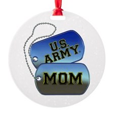 U.S. Army Mom Dog Tags Ornament