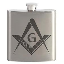 33 Roman Logo Flask