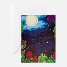 Night Panther Greeting Cards