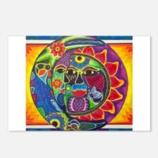 Mexican Sun and Moon Postcards (Package of 8)
