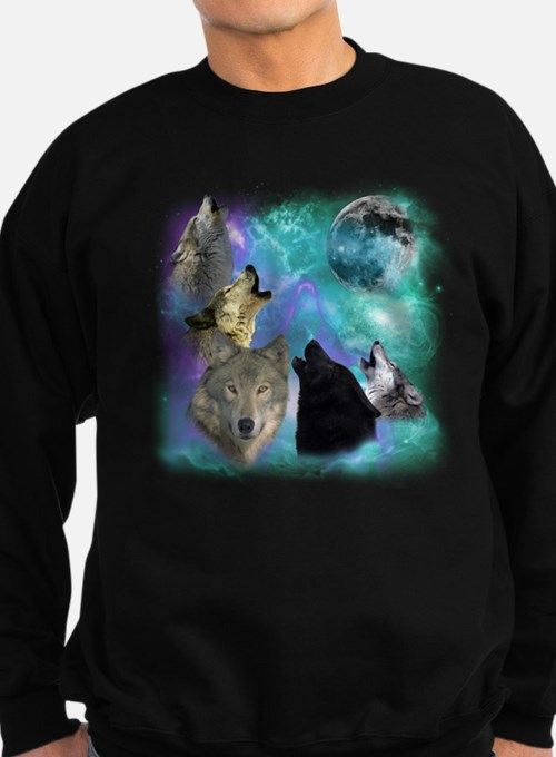 Wolves Coven Emeral night Sweatshirt