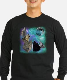 Wolves Coven Emeral night Long Sleeve T-Shirt