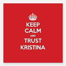 """Trust Kristina Square Car Magnet 3"""" x 3"""""""