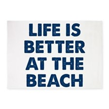 Life Is Better Beach 5'x7'Area Rug