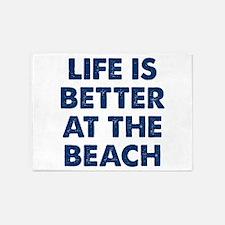 Life Is Better Beach 5'x7'Area Rug