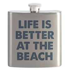 Life Is Better Beach Flask