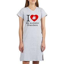 Heart Autistic Grandson Women's Nightshirt