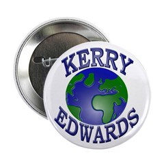 Kerry-Edwards Earth (Pinback Button)