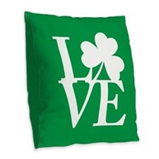 Love the Irish Burlap Throw Pillow