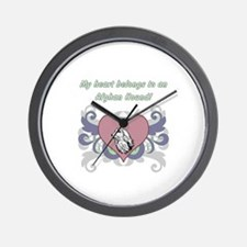 My heart belongs...Afghan Hound Wall Clock