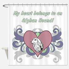 My Heart Belongs...afghan Hound Shower Curtain
