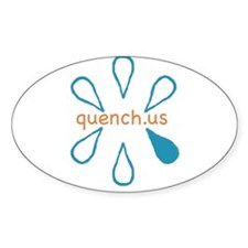 quench.us Oval Decal