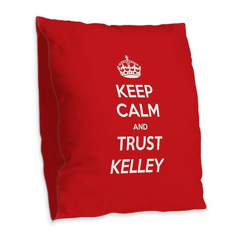 Trust Kelley Burlap Throw Pillow