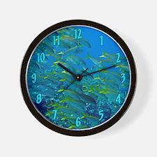 Yellowfin Goatfish Wall Clock