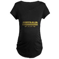 Golden AUSTRALIA since 1901 Maternity T-Shirt