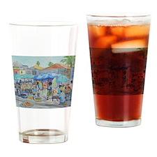 SHOPPING IN HAITI Drinking Glass