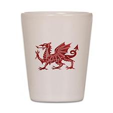 Welsh Red Dragon Shot Glass