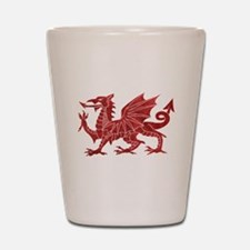 Welsh Red Dragon Shot Glass