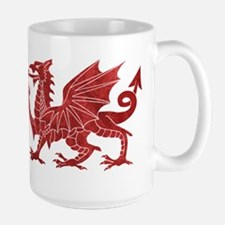 Welsh Red Dragon Mugs